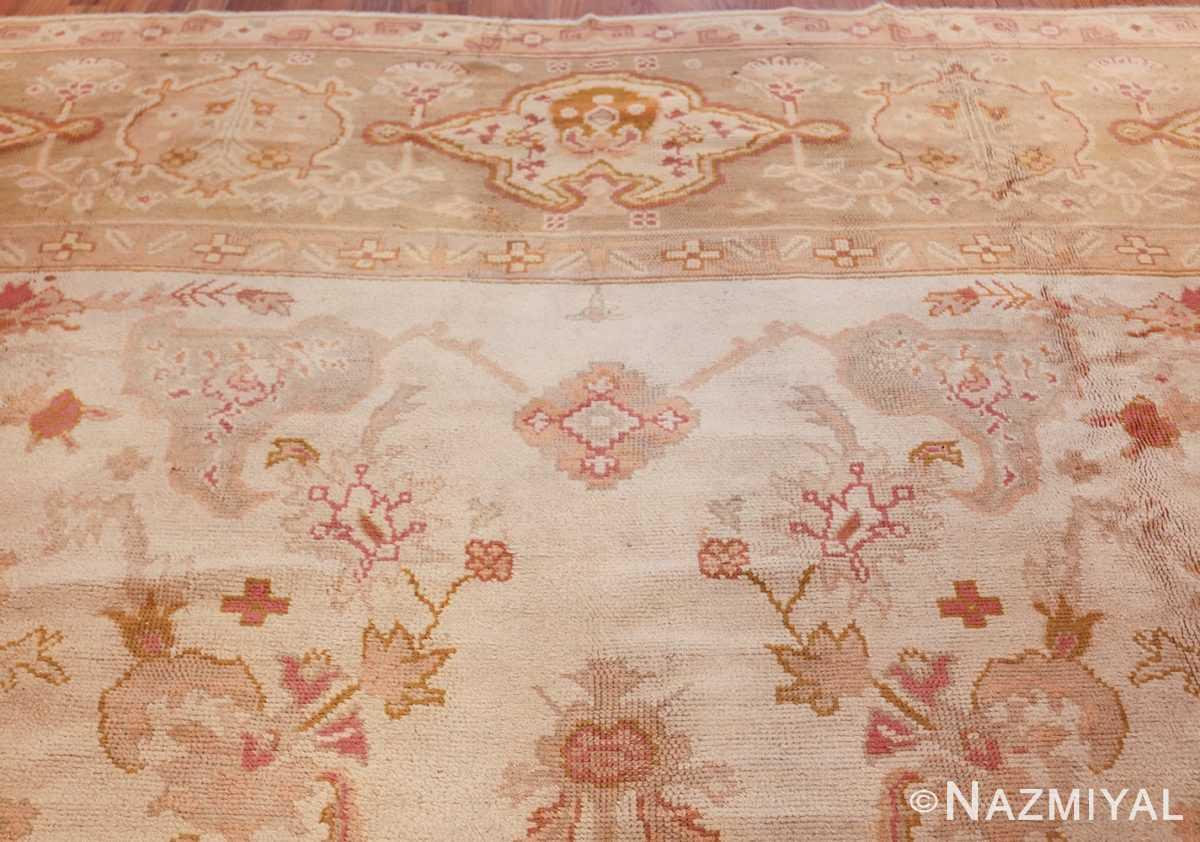 large decorative antique turkish oushak rug 48473 top Nazmiyal