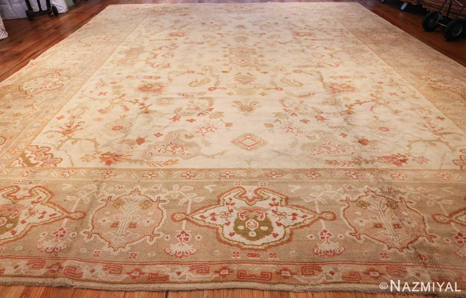 large decorative antique turkish oushak rug 48473 whole Nazmiyal