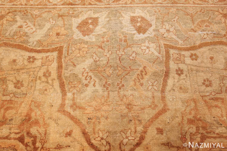 large gold antique indian agra rug 50261 animal Nazmiyal