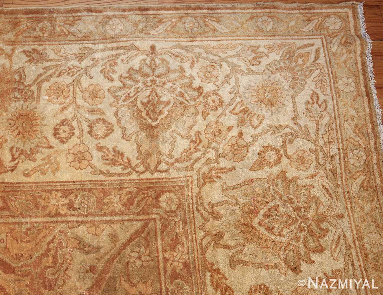 large gold antique indian agra rug 50261 corner Nazmiyal
