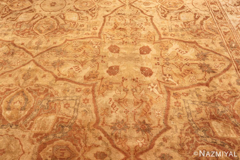 large gold antique indian agra rug 50261 design Nazmiyal