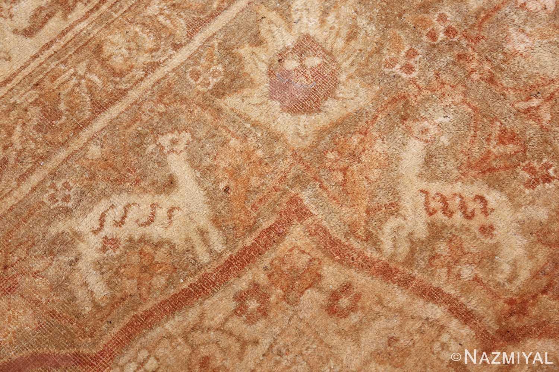 large gold antique indian agra rug 50261 gazal Nazmiyal