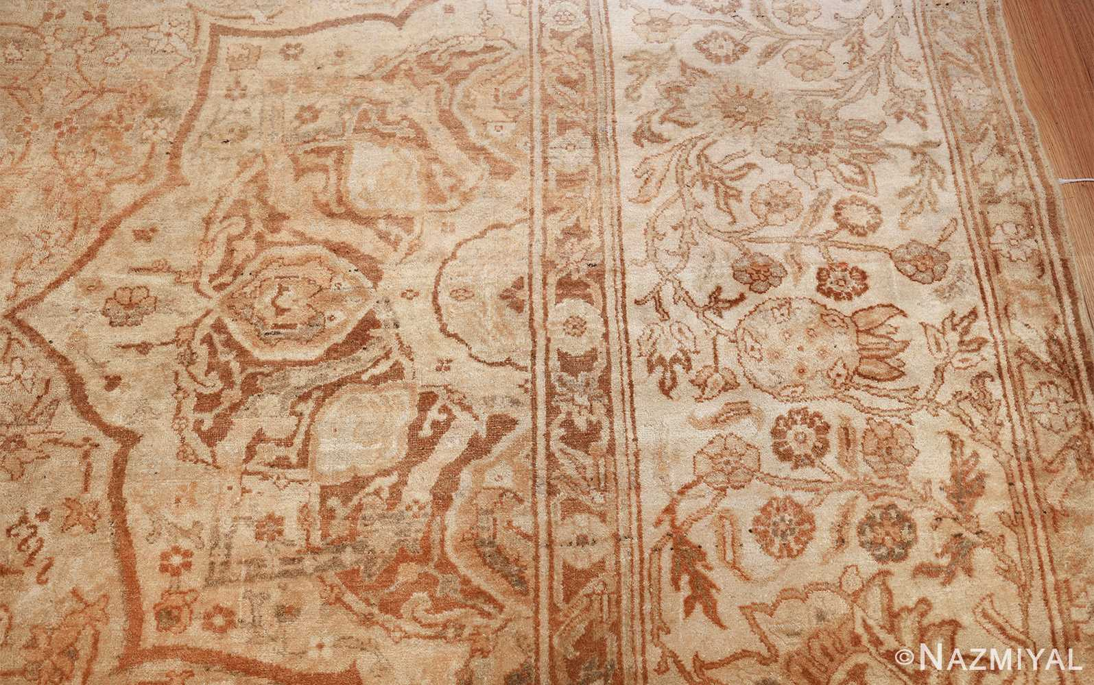 large gold antique indian agra rug 50261 side Nazmiyal