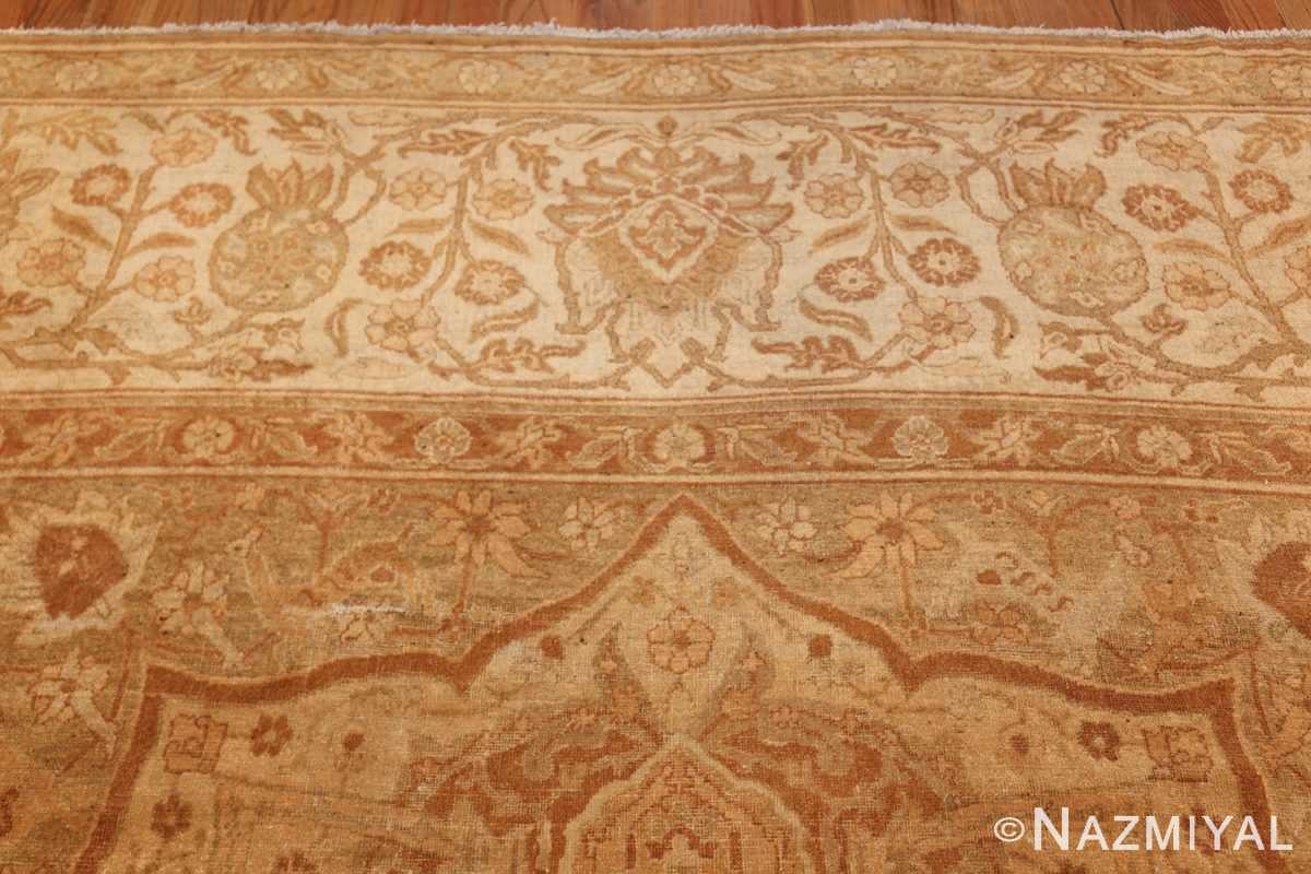 large gold antique indian agra rug 50261 top Nazmiyal