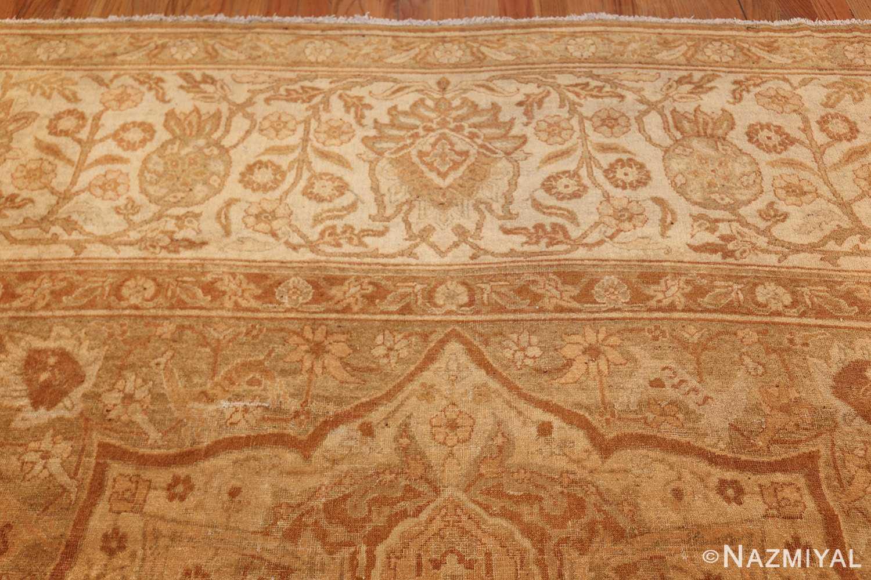large gold antique indian agra rug 50261 top Nazmiyal
