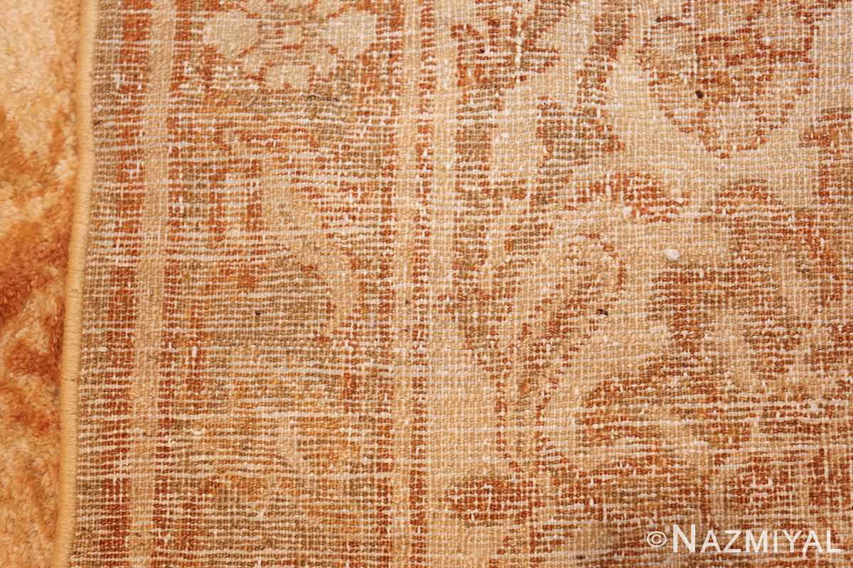 large gold antique indian agra rug 50261 weave Nazmiyal