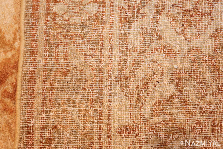 large gold antique indian agra rug 50261 weave Nazmiyal