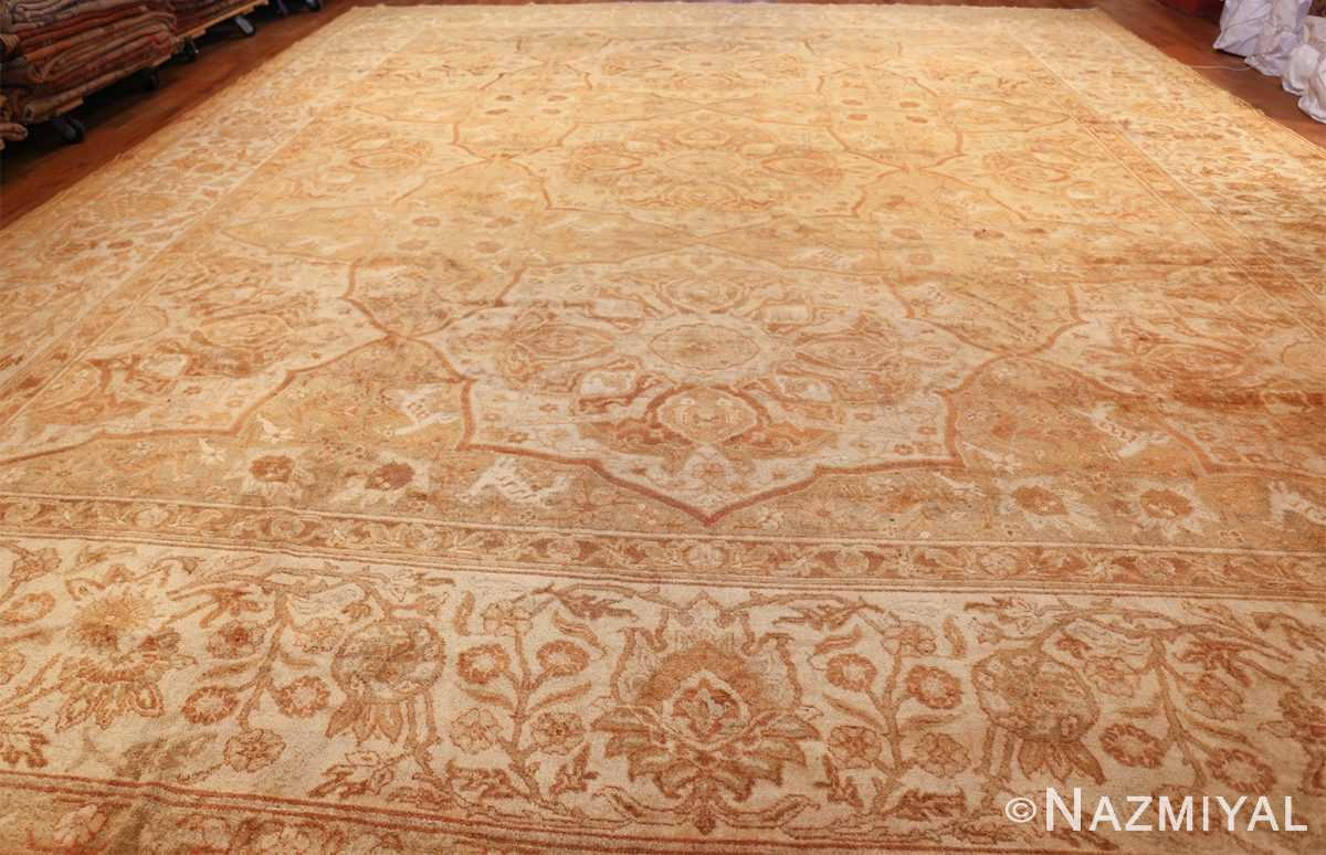 large gold antique indian agra rug 50261 whole Nazmiyal