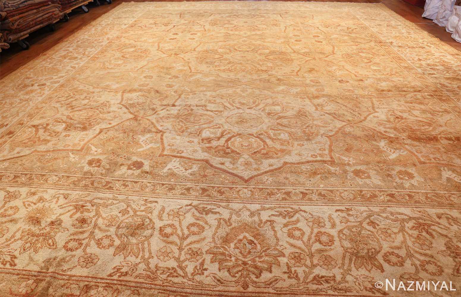 large gold antique indian agra rug 50261 whole Nazmiyal