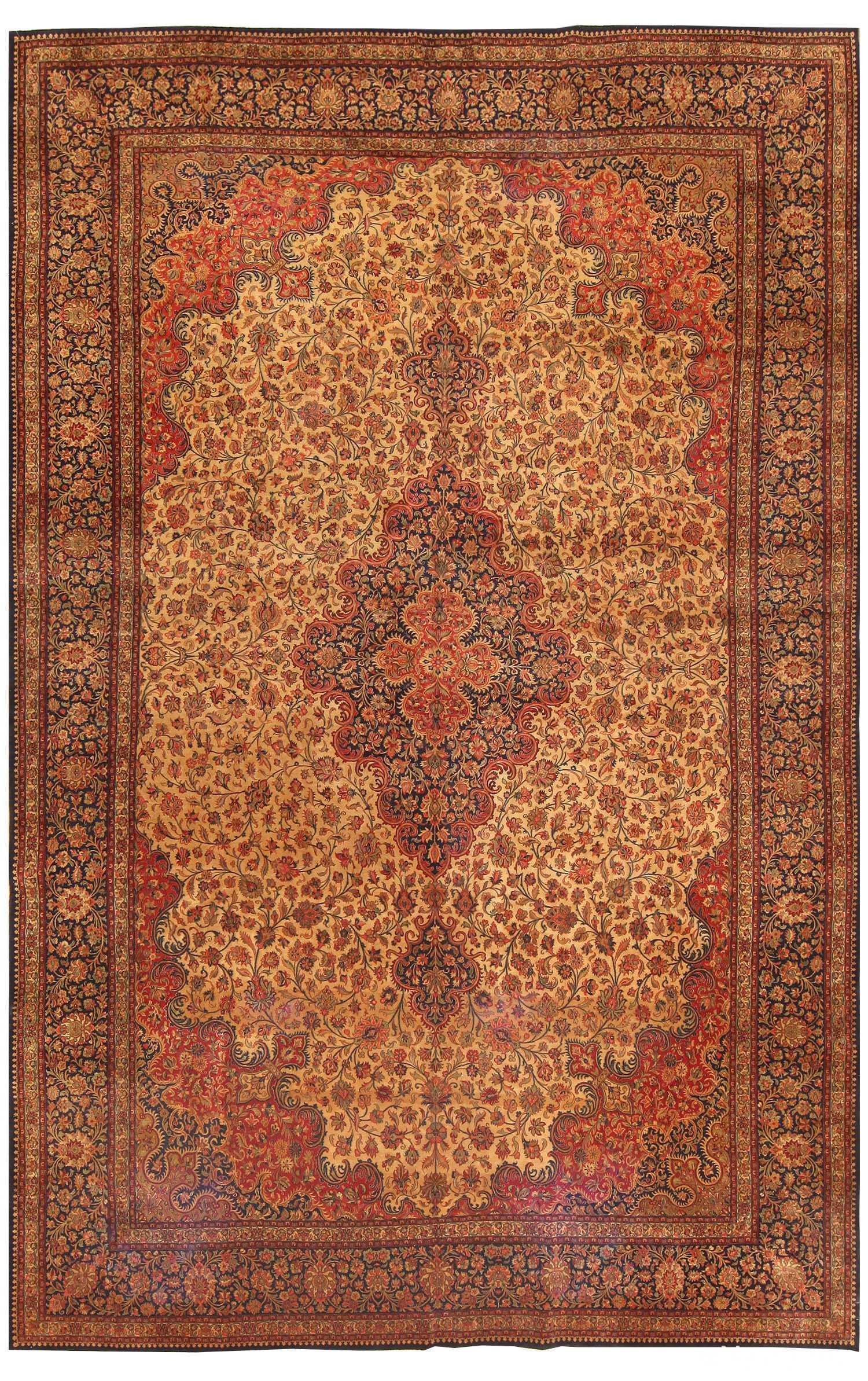 Large Vintage Persian Qum Rug 50326 Nazmiyal