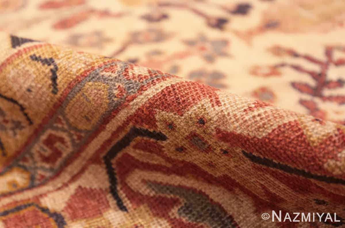 Pile Antique Ivory Persian Sultanabad rug 50095 by Nazmiyal