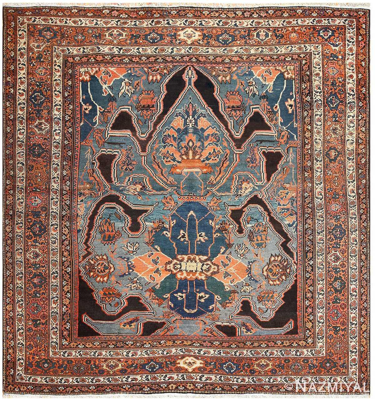 Square Antique Persian Sultanabad Rug 50238 Nazmiyal