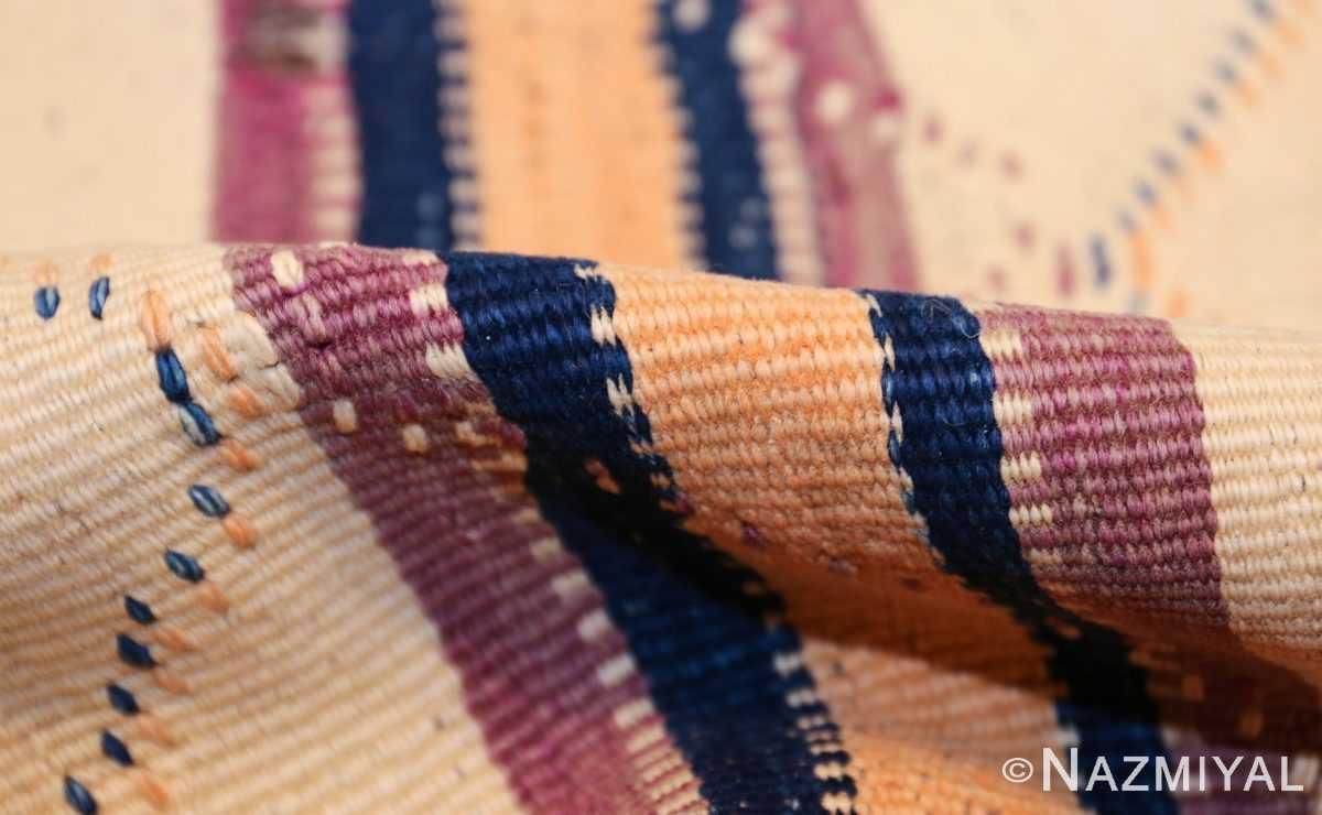 vintage moroccan kilim 46467 pile Nazmiyal