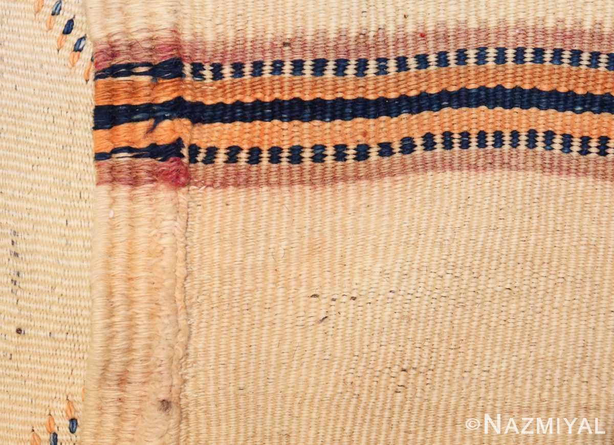 vintage moroccan kilim 46467 weave Nazmiyal