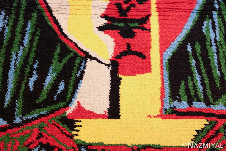 vintage pablo picasso rug 46873 colors Nazmiyal