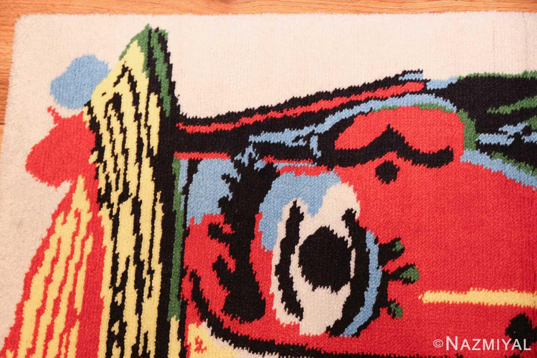 vintage pablo picasso rug 46873 corner Nazmiyal