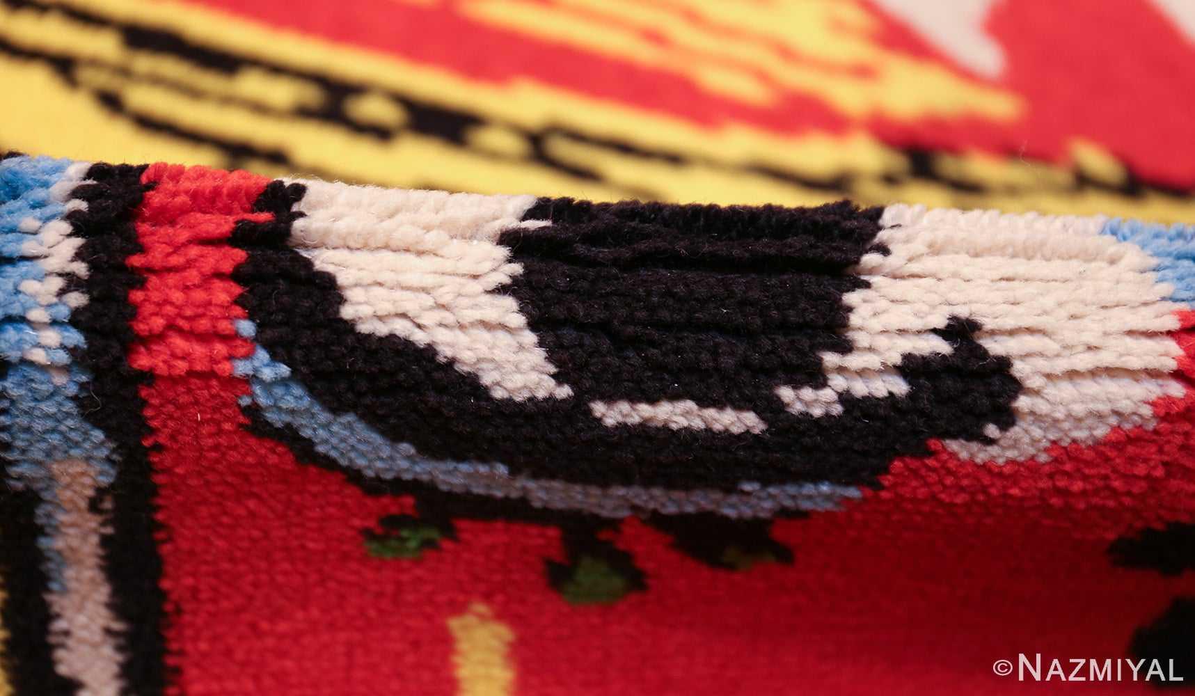 vintage pablo picasso rug 46873 pile Nazmiyal