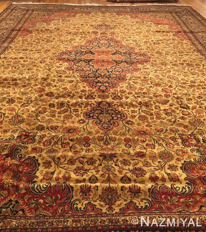 Detail 5 - Vintage Persian Qum Rug 50326