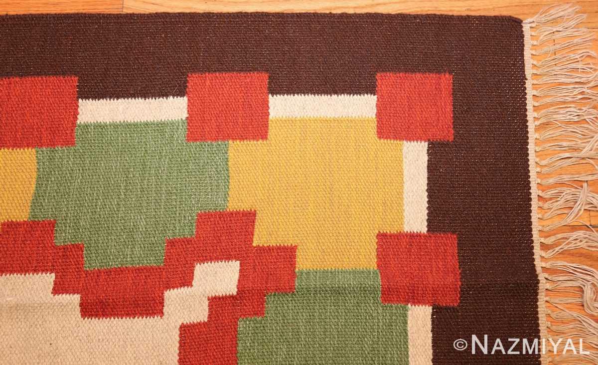 vintage scandinavian swedish kilim 46860 corner Nazmiyal