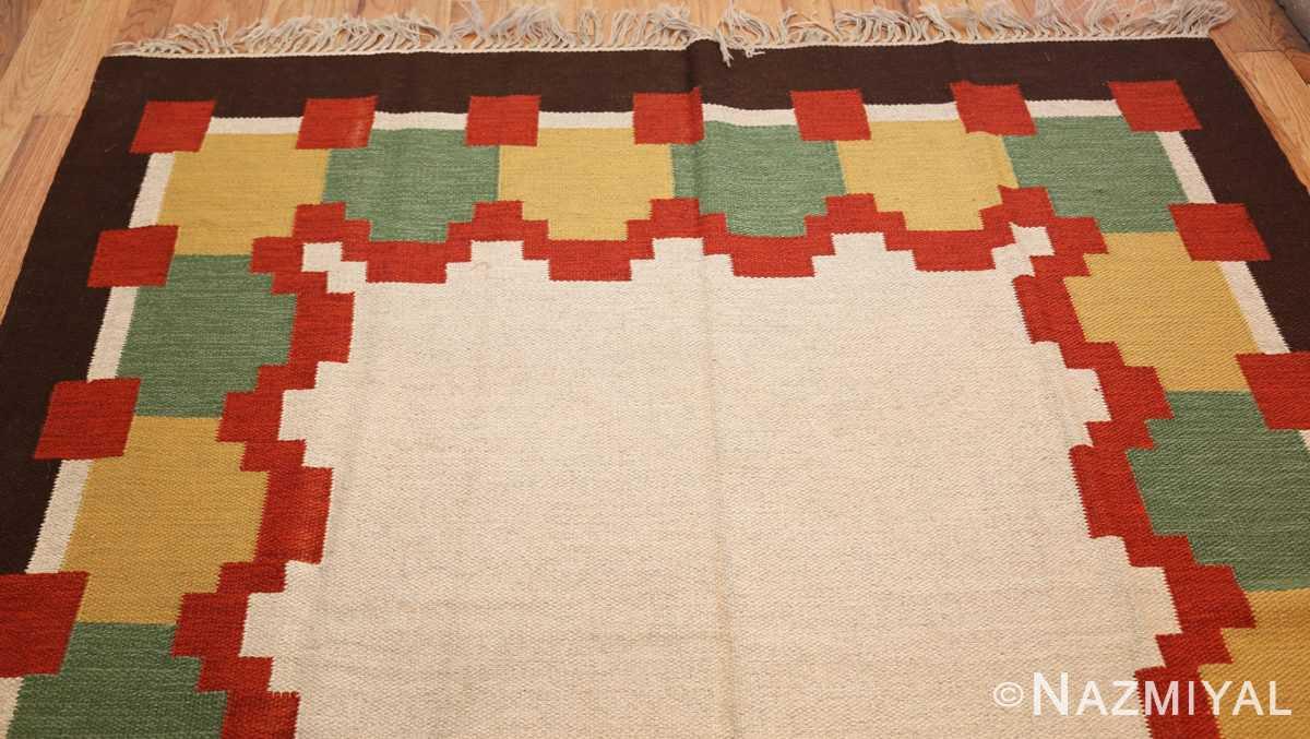 vintage scandinavian swedish kilim 46860 top Nazmiyal