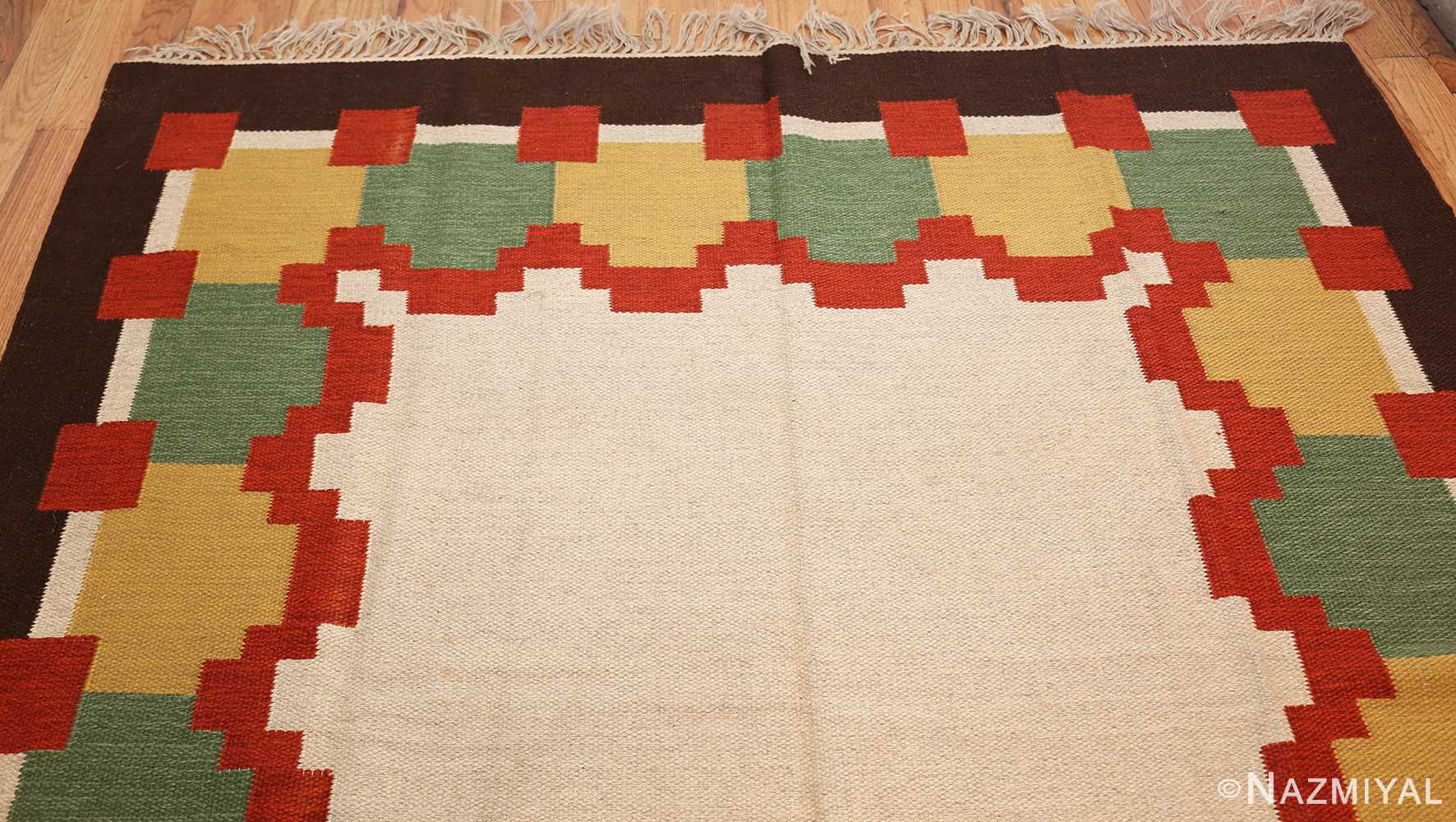 vintage scandinavian swedish kilim 46860 top Nazmiyal
