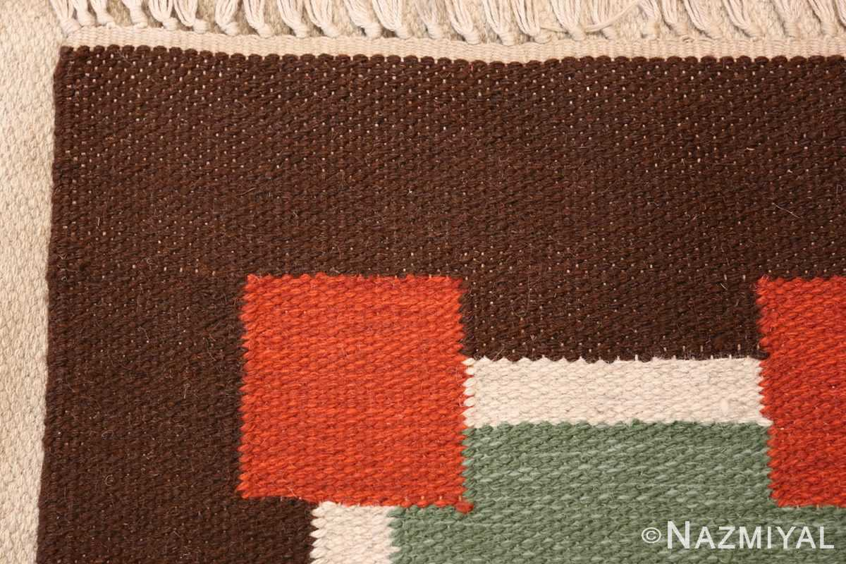 vintage scandinavian swedish kilim 46860 weave Nazmiyal