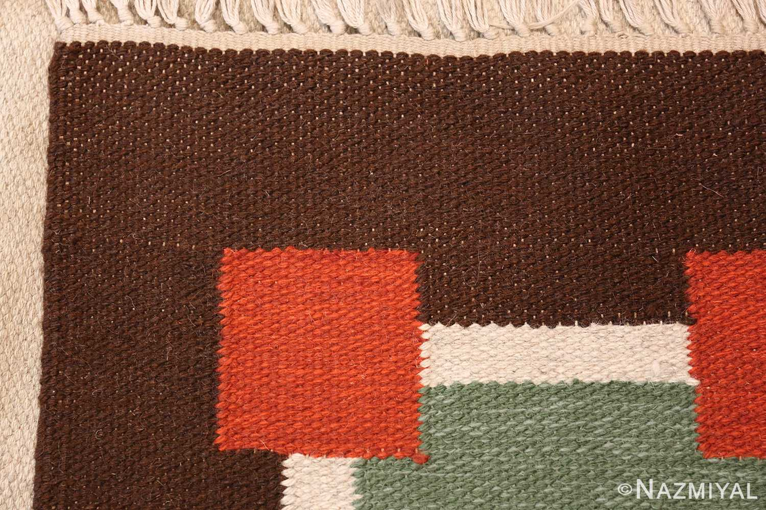 vintage scandinavian swedish kilim 46860 weave Nazmiyal