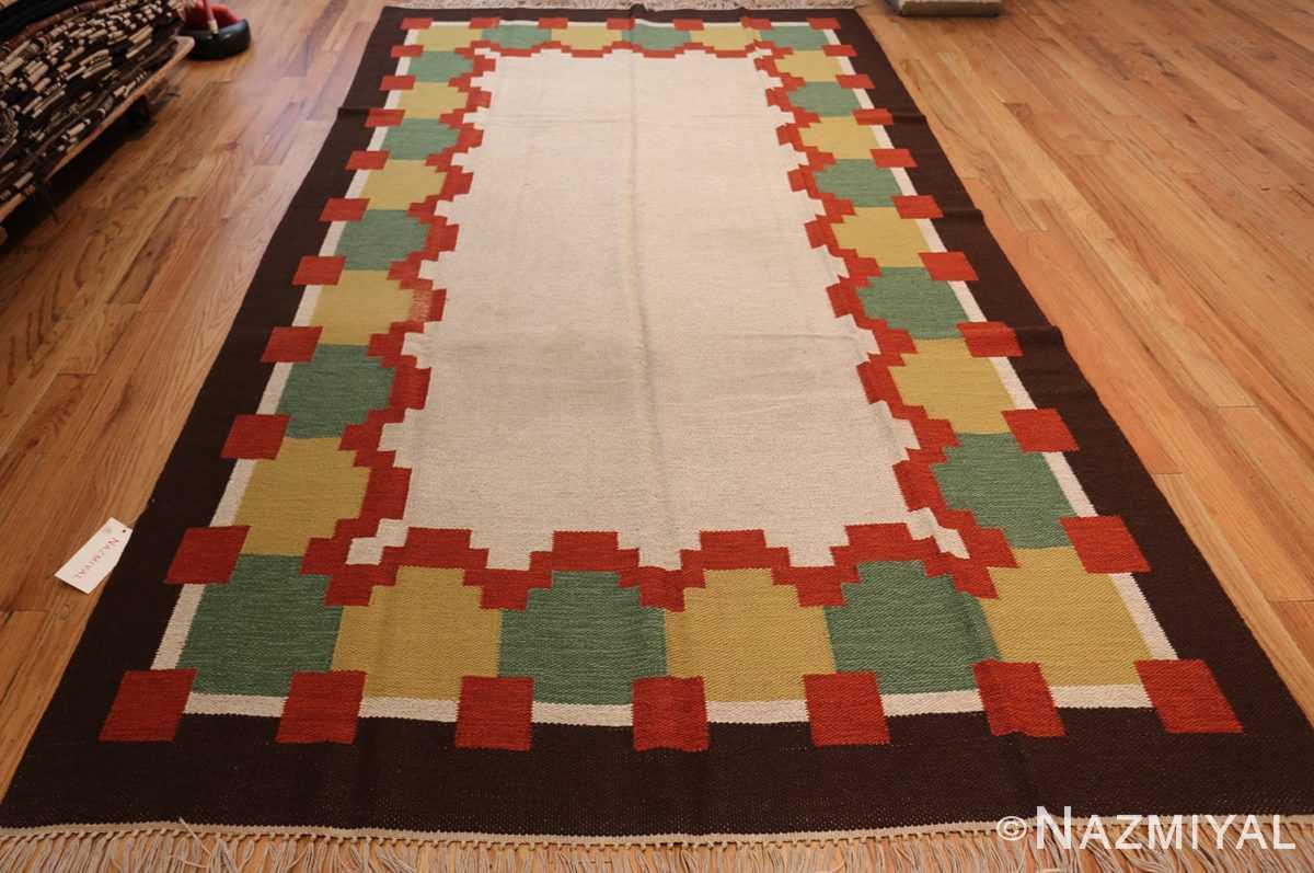 vintage scandinavian swedish kilim 46860 whole Nazmiyal