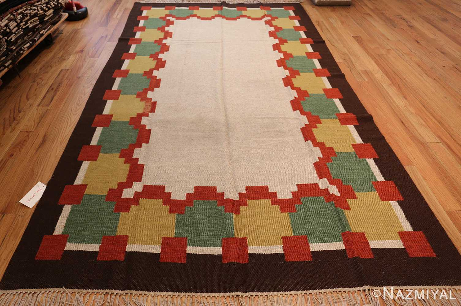 vintage scandinavian swedish kilim 46860 whole Nazmiyal