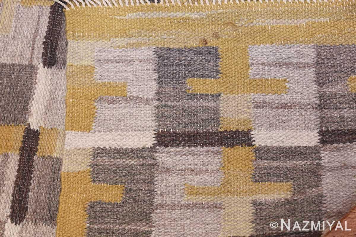 Vintage Scandinavian Swedish Kilim 48560 Knots Woven Nazmiyal