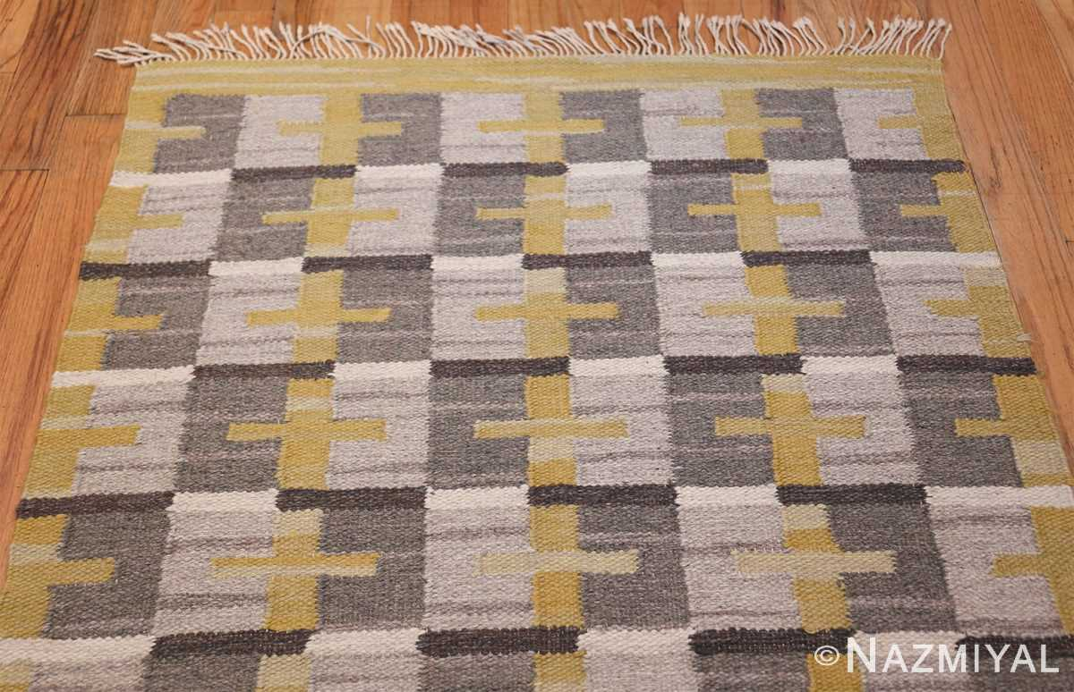 Vintage Scandinavian Swedish Kilim 48560 Top Design Nazmiyal