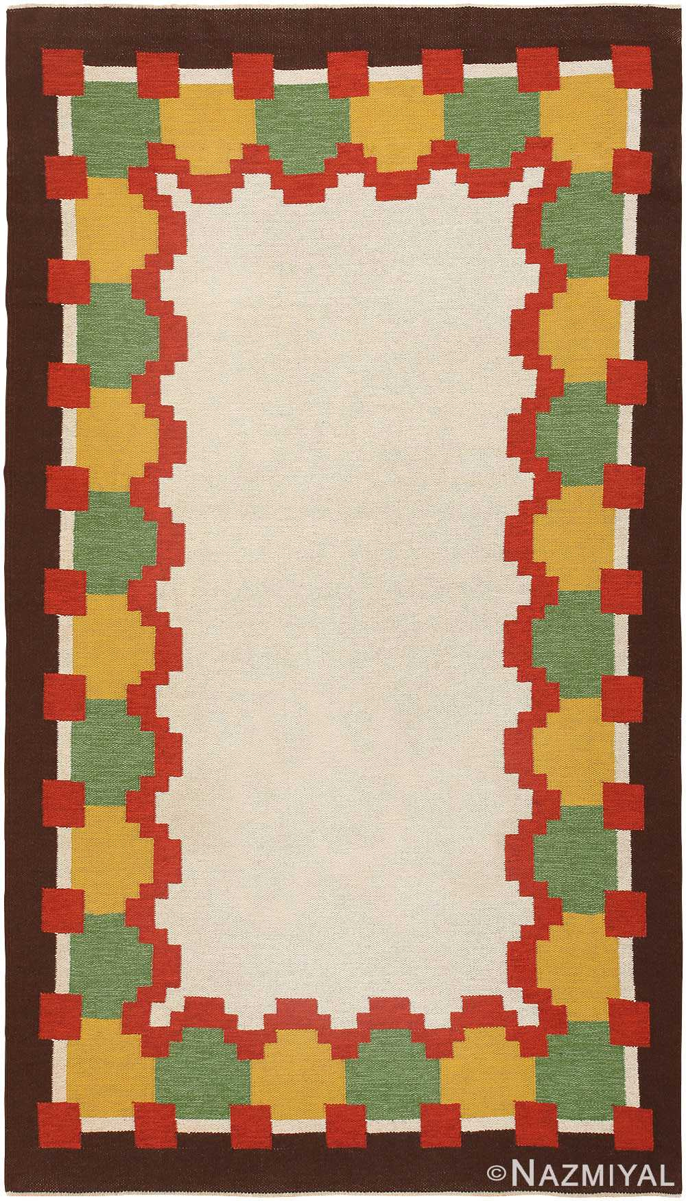 Vintage Swedish Kilim 46860 Detail/Large View