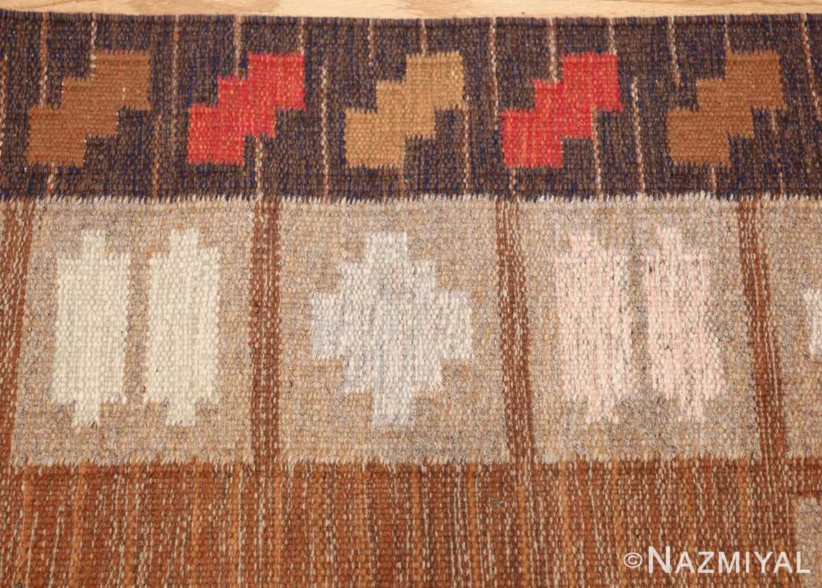 vintage swedish kilim by ana joanna angstrom 48562 border Nazmiyal