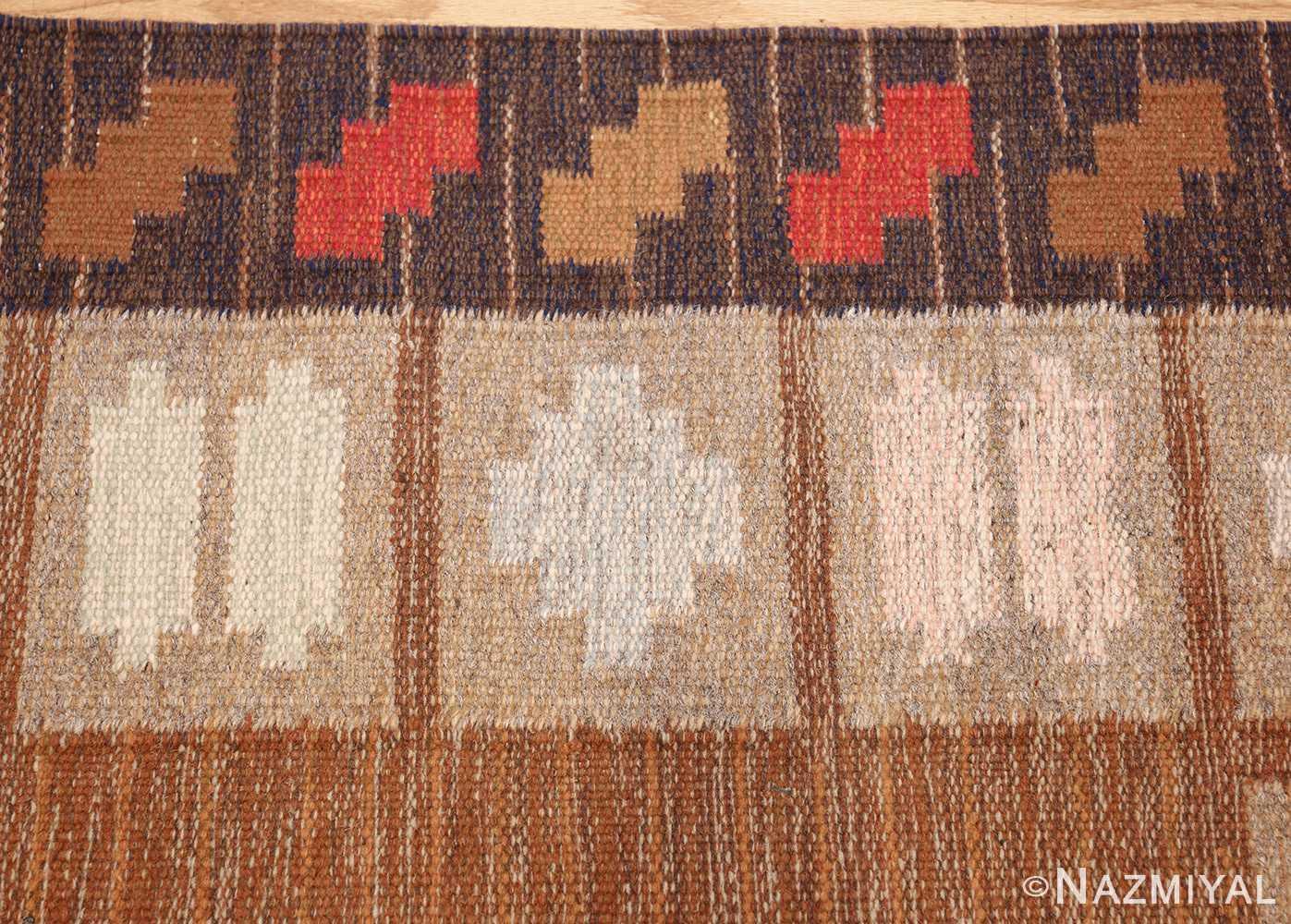 vintage swedish kilim by ana joanna angstrom 48562 border Nazmiyal
