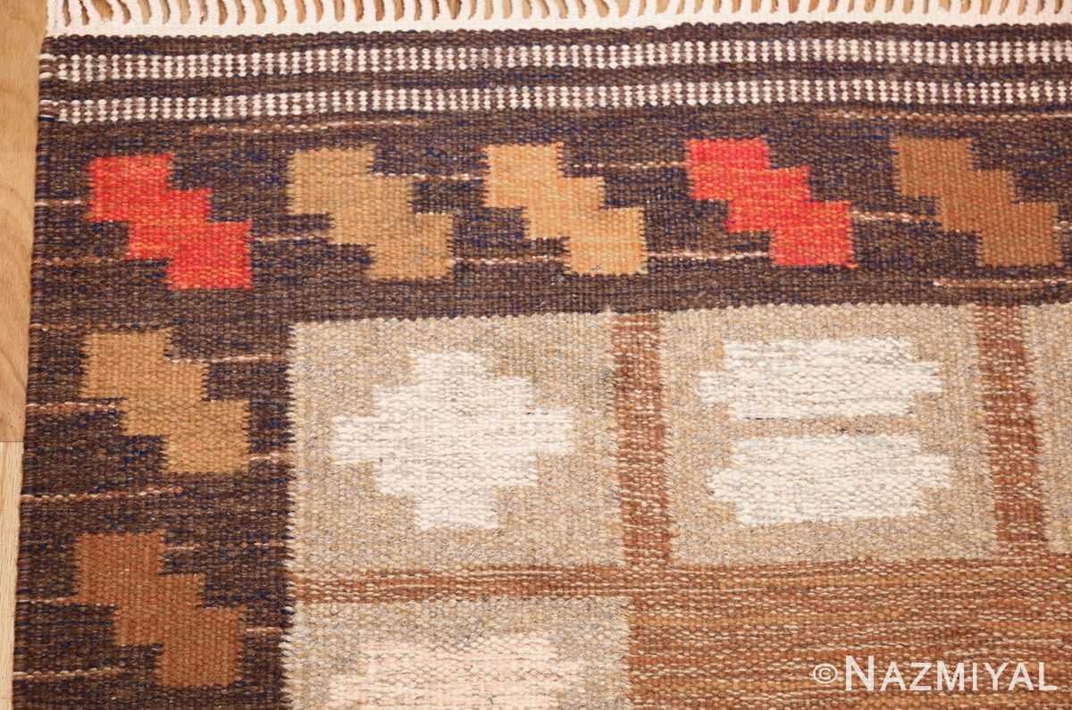 vintage swedish kilim by ana joanna angstrom 48562 corner Nazmiyal