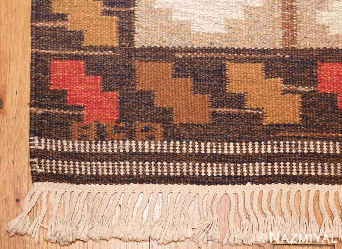 vintage swedish kilim by ana joanna angstrom 48562 signature Nazmiyal