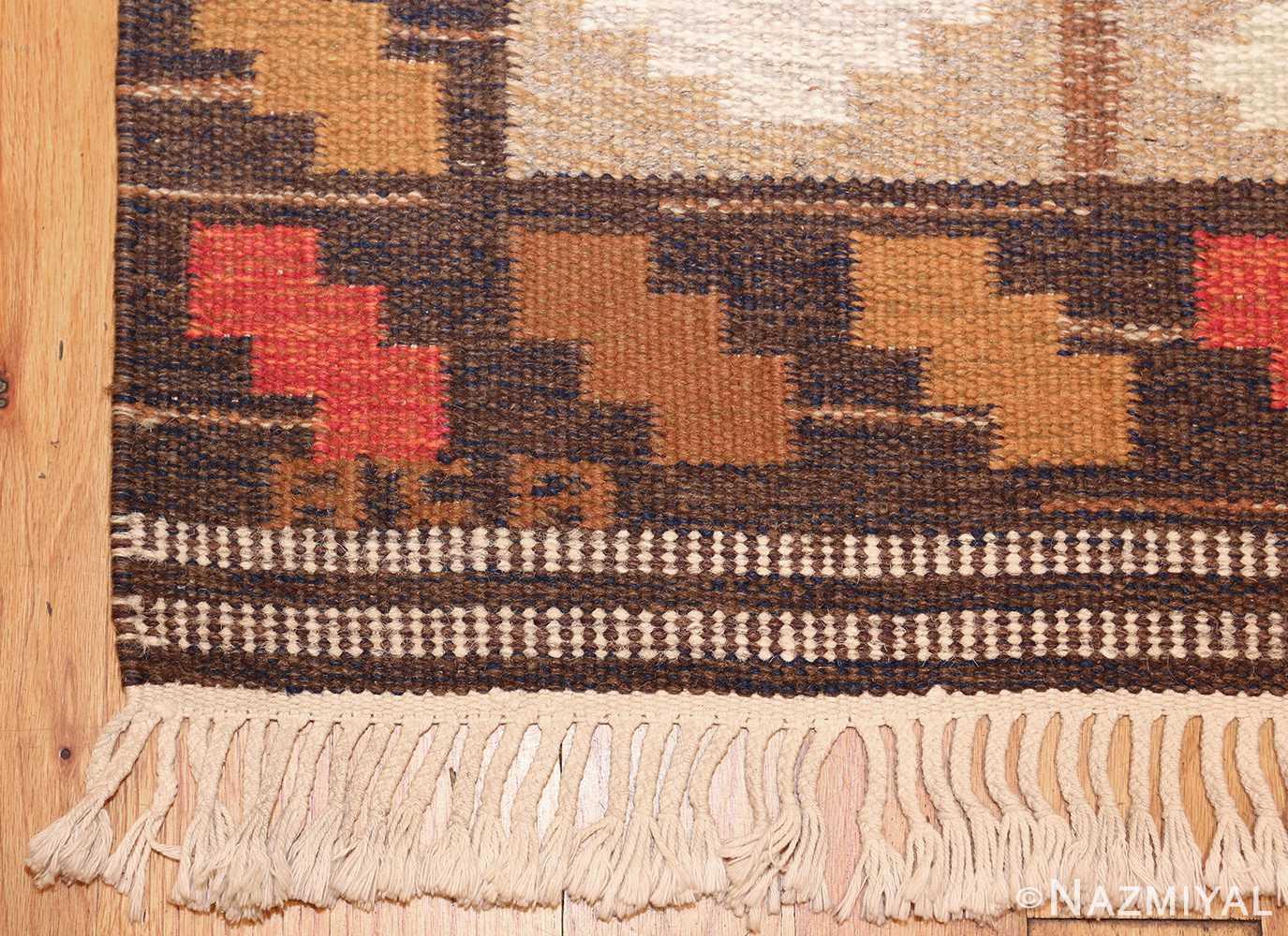 vintage swedish kilim by ana joanna angstrom 48562 signature Nazmiyal