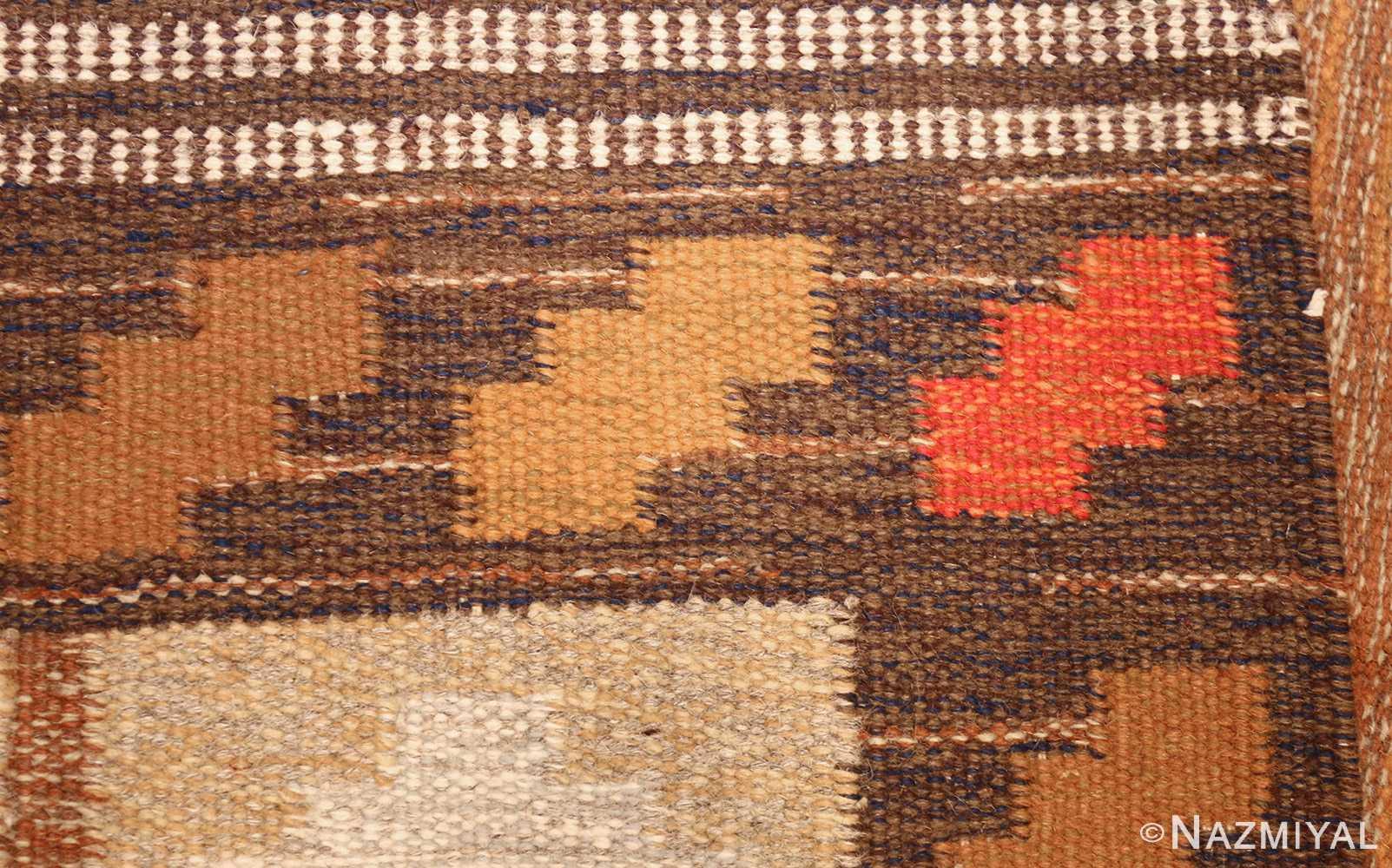vintage swedish kilim by ana joanna angstrom 48562 weave Nazmiyal