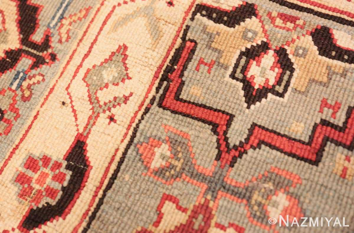Weave detail Antique Indian Agra rug 2983 by Nazmiyal
