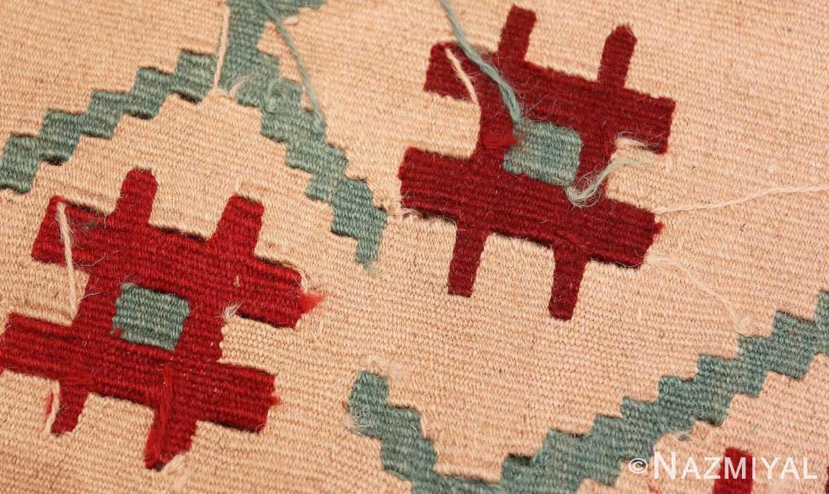 Weave detail Vintage Turkish Kilim 50323 by Nazmiyal
