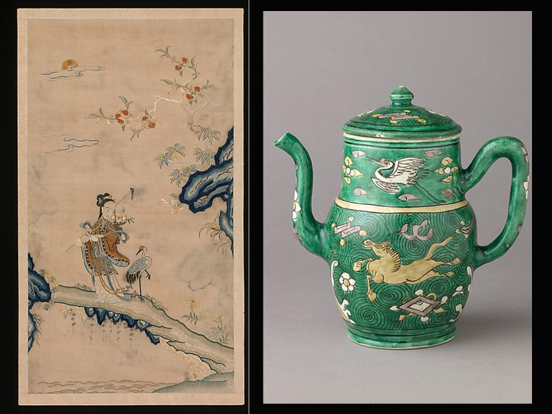 Cranes in Chinese Art by Nazmiyal
