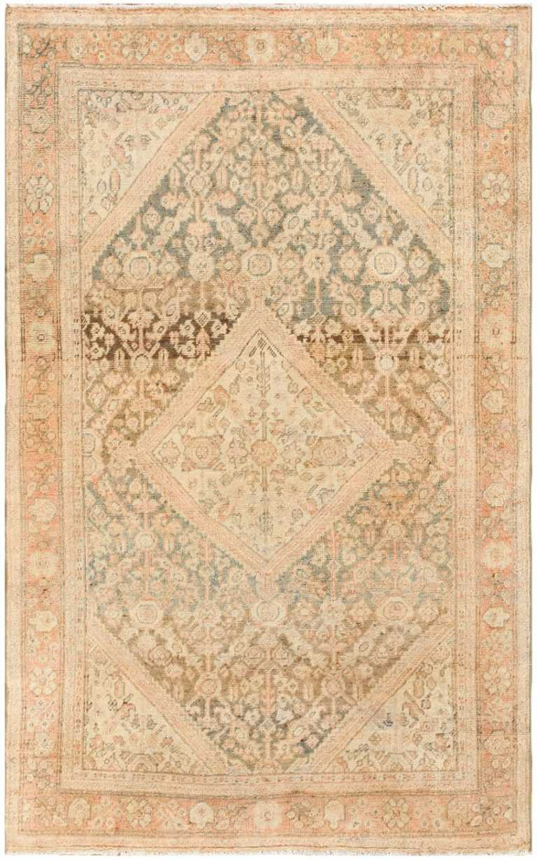 Antique Persian Mahal Rug 50287 Detail/Large View