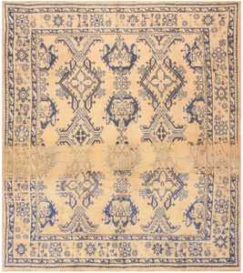 Antique Turkish Oushak Carpet 47140 Nazmiyal