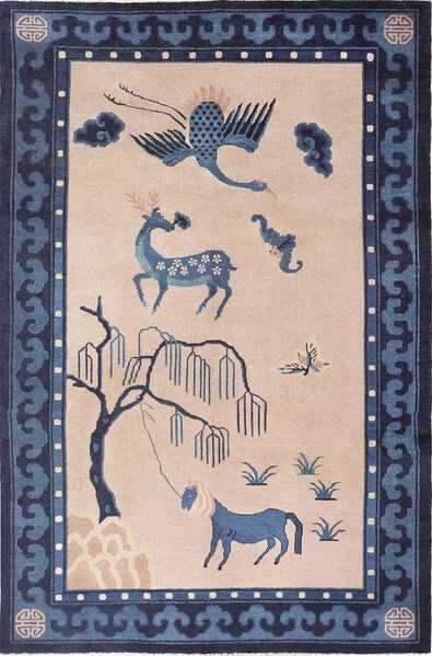 Beautiful Antique Chinese Rug 47558
