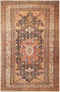 Extra Large Antique Persian Bakhtiari Carpet 50120 Nazmiyal