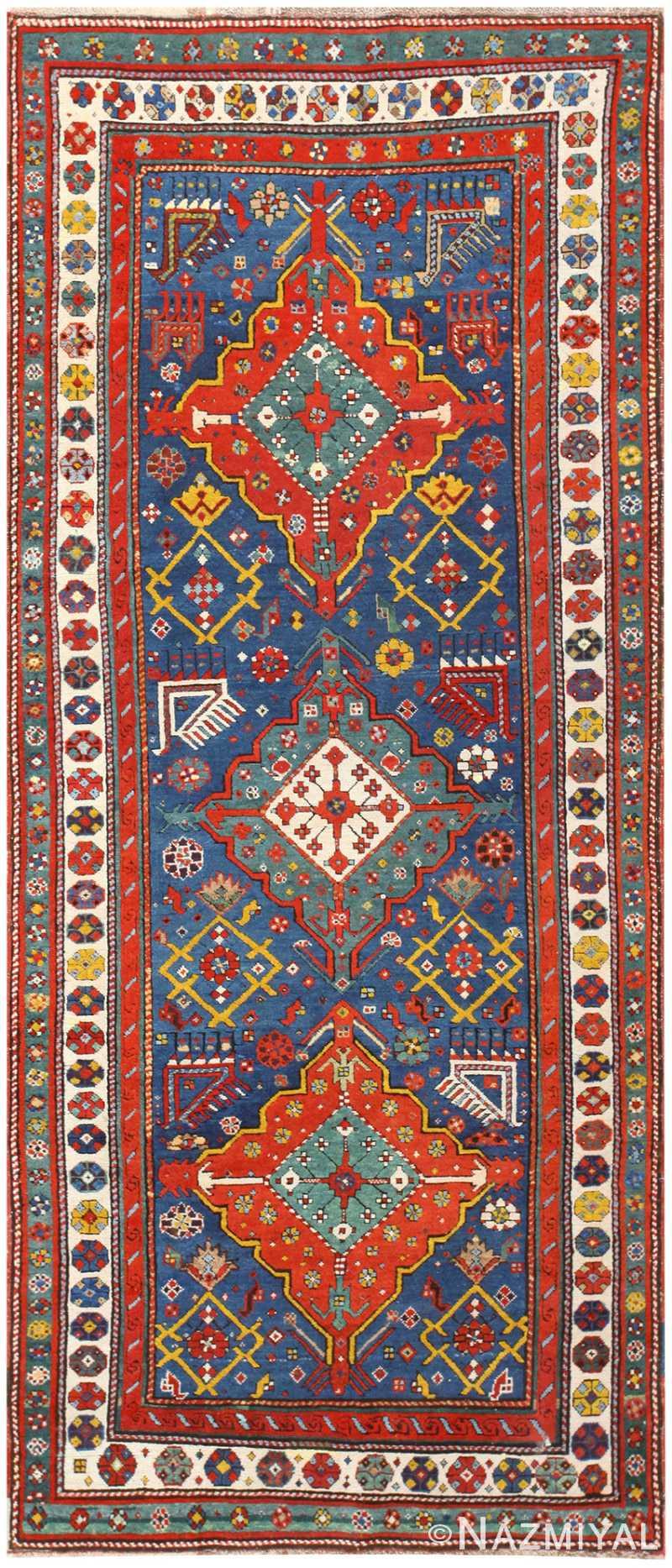 Antique Geometric Talish Rug 48462 Nazmiyal