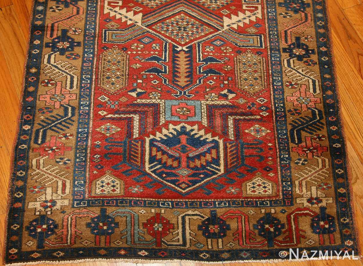 antique heriz persian runner rug 50175 border Nazmiyal