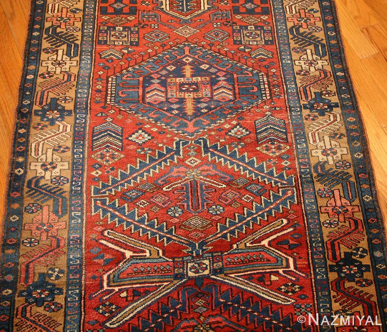 antique heriz persian runner rug 50175 field Nazmiyal