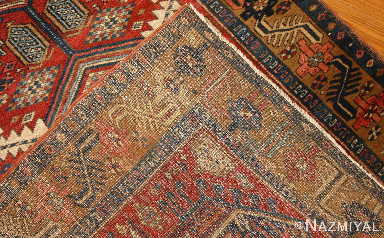 antique heriz persian runner rug 50175 weave Nazmiyal