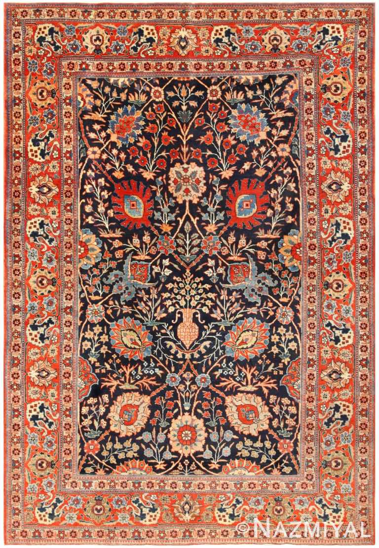 Antique Iranian Tabriz Rug 48569 Detail/Large View